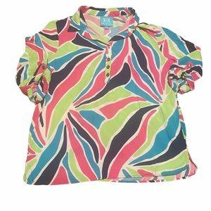 Escapada pattern shirt large softest top